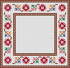 floral border cross stitch