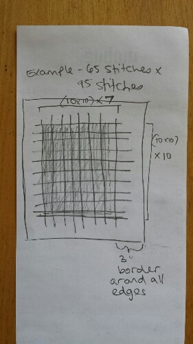 Make Stitching Big Charts Easier by Gridding Your Fabric