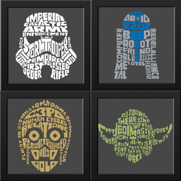 star wars character name art cross stitch