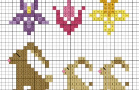 spring cross stitch minis