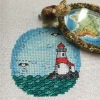 Missing the Beach? Cross-Stitch a Lighthouse