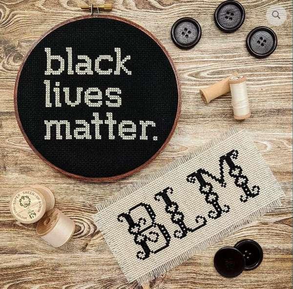 Black Lives Matter Cross Stitch Pattern Set