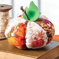 Pumpkin Pincushion Cross Stitch Pattern