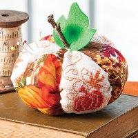 Pumpkin Pincushion Cross Stitch Pattern