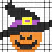 Pumpkin Perler Bead Pattern for Cross Stitch