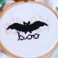 Free Bat Cross Stitch Pattern