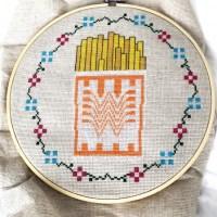 Whataburger Cross Stitch Pattern