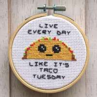 Celebrate Taco Tuesday in Cross Stitch