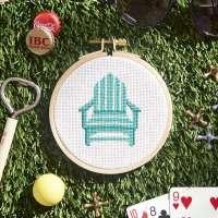 Lounge Chair Cross-Stitch Pattern