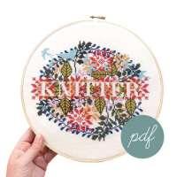 Knitter Cross Stitch Pattern