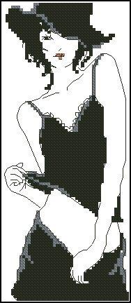 """Free cross-stitch pattern """"Pretty woman"""""""