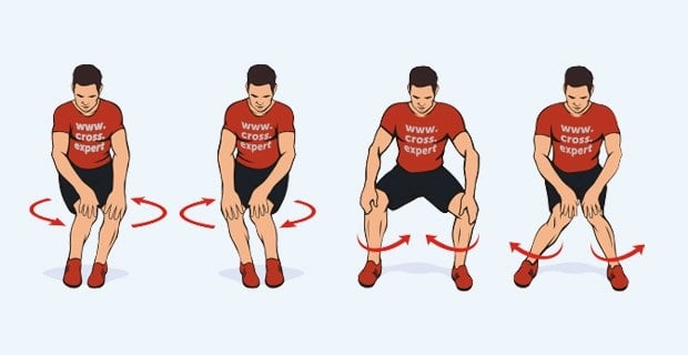 Workout of the knee joint