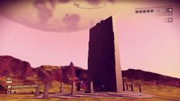 Pillars seen holding up the sky and planets