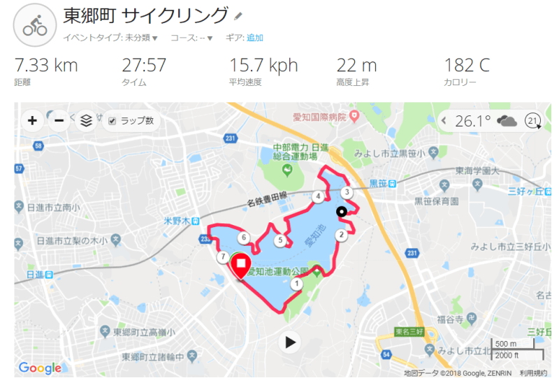 GARMIN CONNECT サイクリング MAP