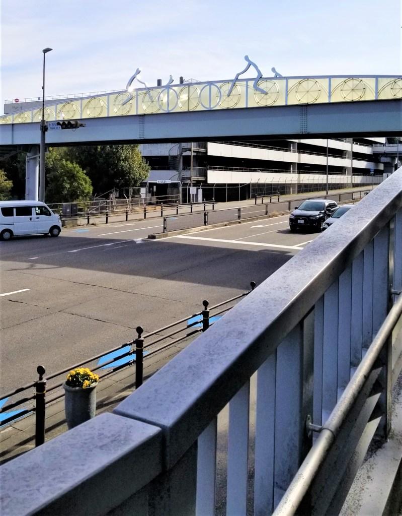 豊田安城自転車道 「トヨタ町北」交差点の歩道橋