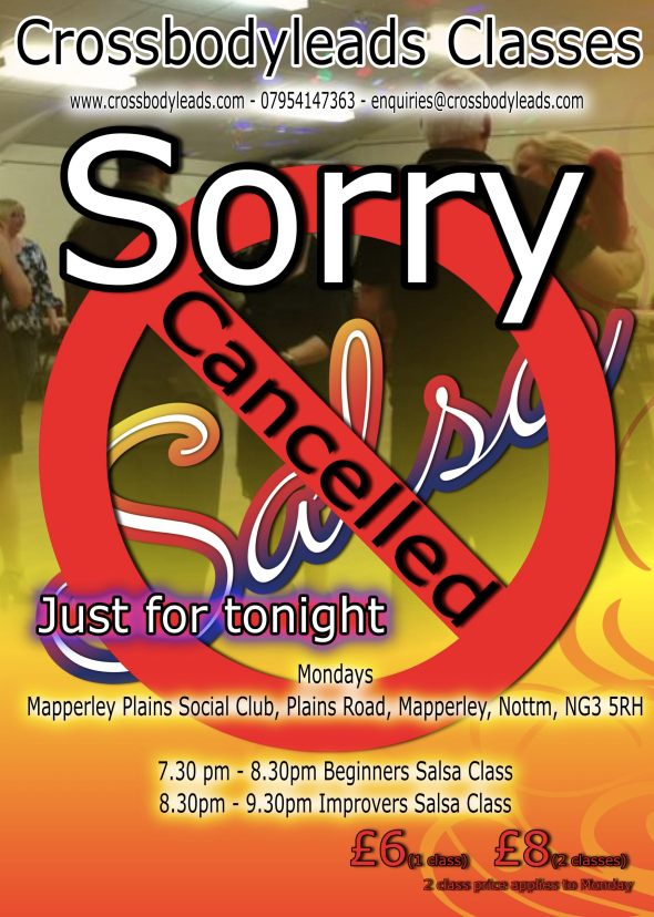 Apologies for the Late notice but due to work commitments this weeks classes have to be cancelled.  see you all next week.   Dont forget about the social on Saturday night.