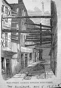 Old print - Mint Street, looking towards High Street copy