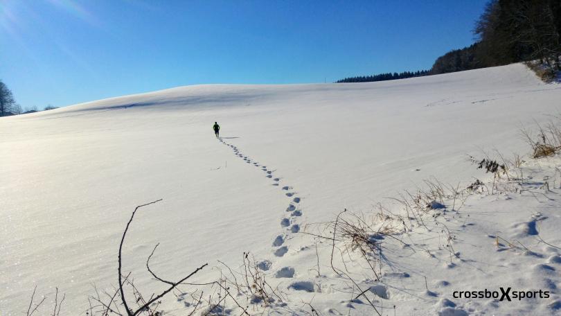 run for fun – durch den Schnee