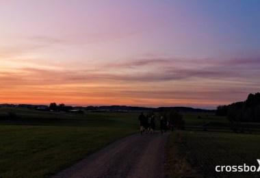 Oregon Circuit-Laufgruppe-Sonnenuntergang