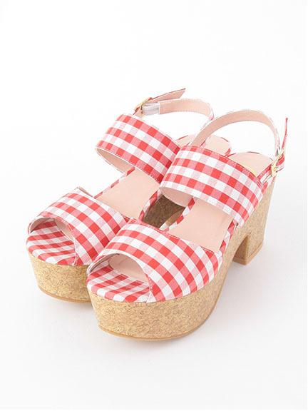 Gingham Check Sandal