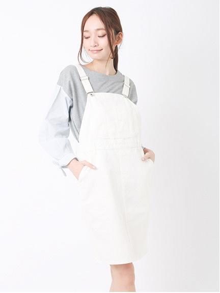 【Special Price】Nヘリンボーンデニムサロペットスカート