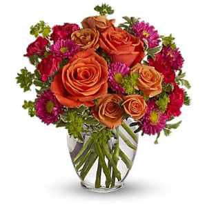 roses flowers vase bouquet fall
