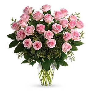 pink rose newborn baby girl flowers