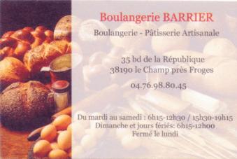 Boulangerie Barrier