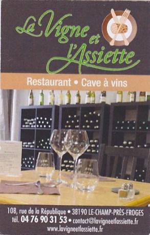 La Vigne Et L Assiette