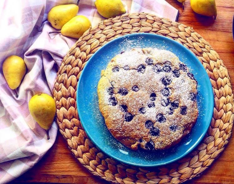 tortino vegano all'uva fragola senza zucchero