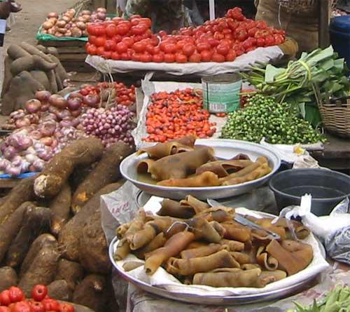 market in Ghana