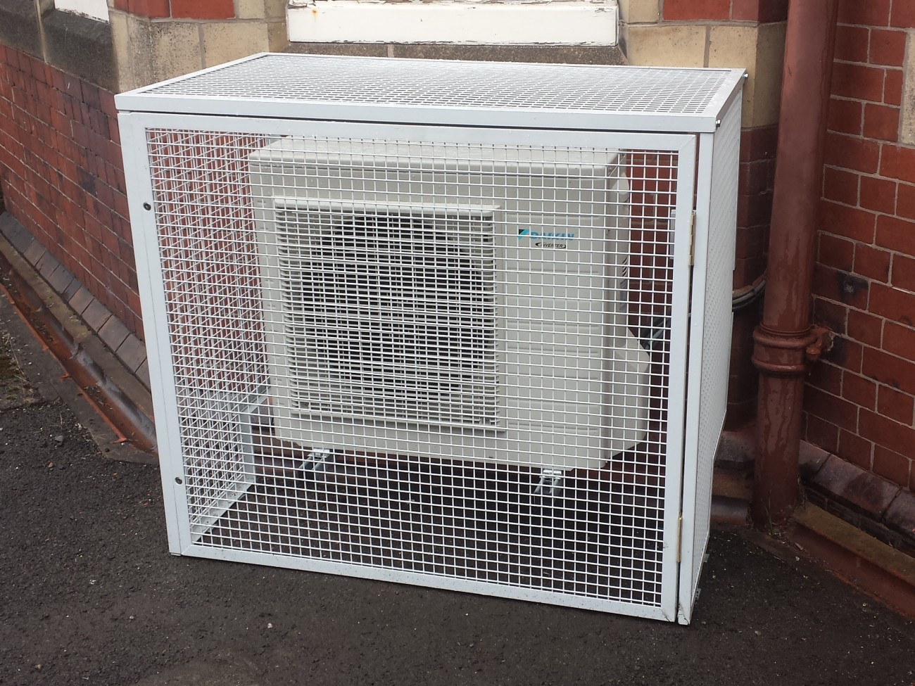 air conditioner cage pioneer radio wiring diagram conditioning unit protection cross fabrications
