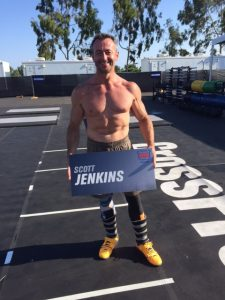 Coach Scott Jenkins competes at CrossFit Games