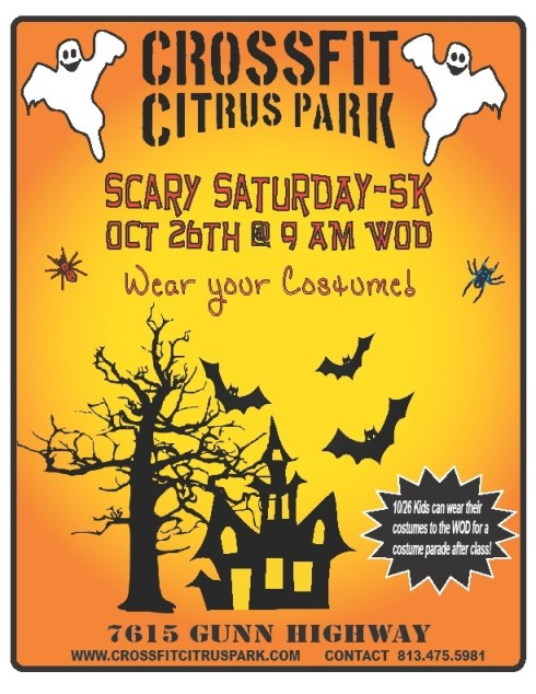 Costume 5k this Saturday!!! 9am WOD...kids costume parade right after!