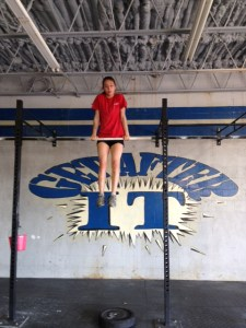 great job Maya on your first bar muscle up!
