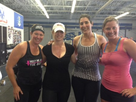 Great WOD Robyn! You are an inspiration to us all! Crossfited all the way through pregnancy and came back ready to work! We also thank you for always looking at our boo boos!!