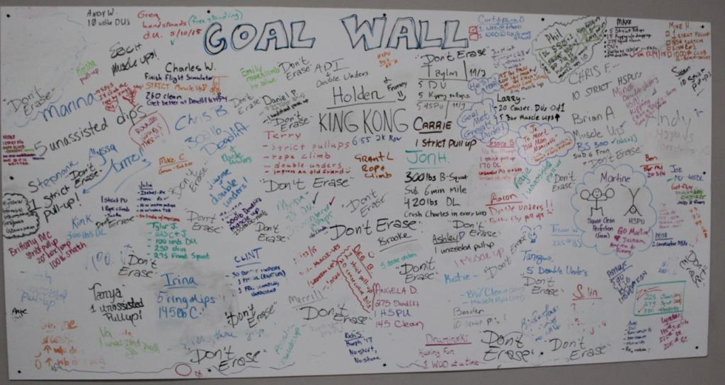 2017 Goal Wall by Coach John