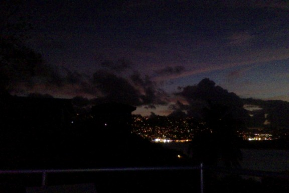 Nighttime. In St. Thomas.