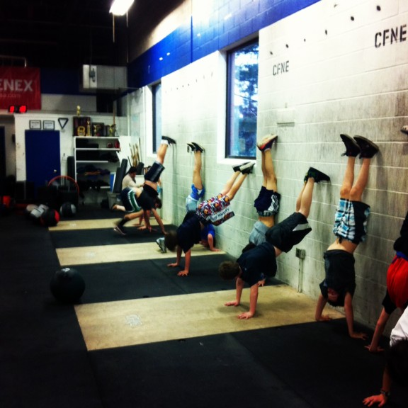 Wall walks and Handstand Push-ups