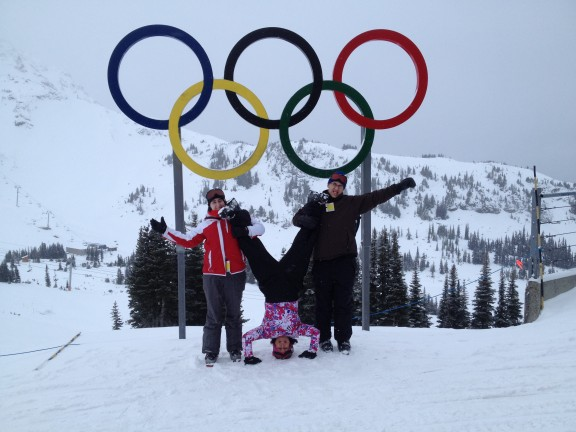 The Vatcher Family at 6,069ft at Whistler Mountain.
