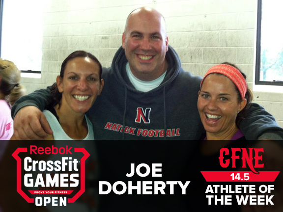 Congratulations to our Open Athlete of the Week Joe Doherty! Joe smashed 14.5! All heart!