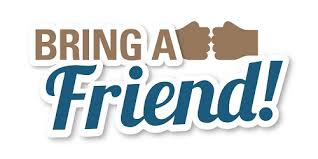 Thursday, June 1st is Bring A Friend Day