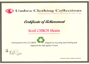 Cert from Umbra Clothing Collection March 2013