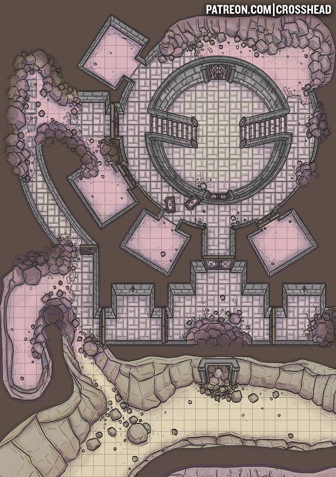 MOUNTAIN PACK CAGES DUNGEON BATTLEMAP D&D LQ