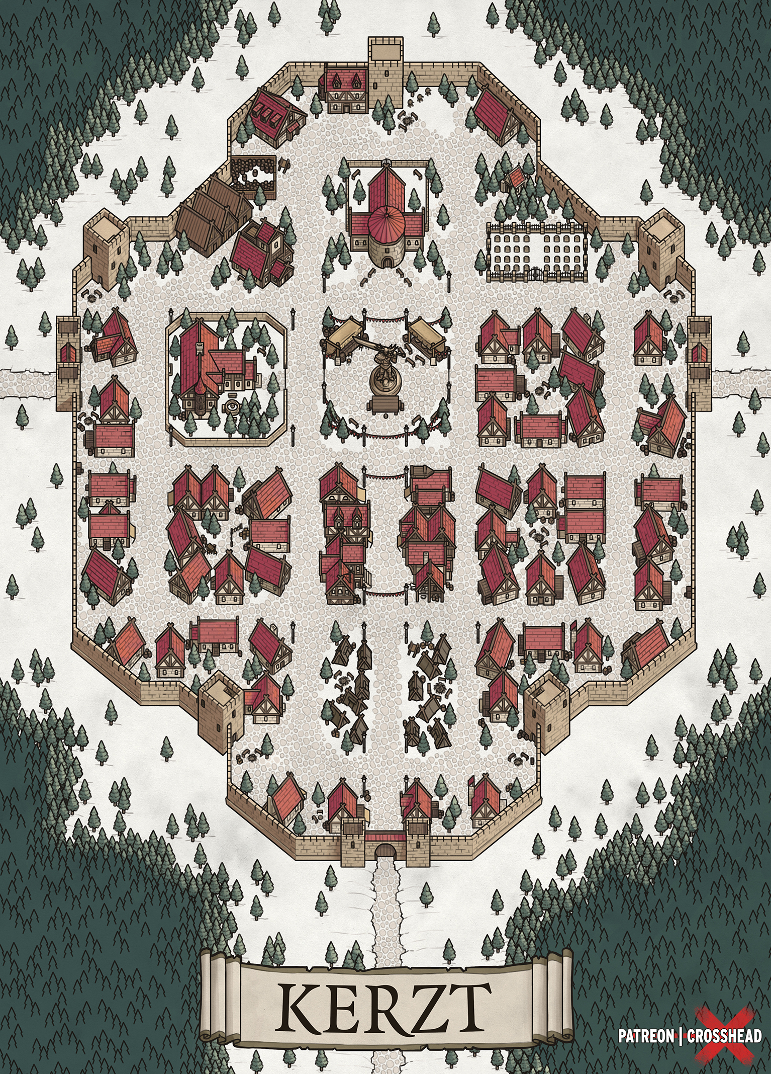 KERZT - Winter Village Map ONLINE