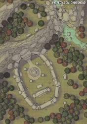forest map maps rpg dnd battlemap 5e battle fantasy dungeons battlemaps dragons pathfinder encounter dungeon shrine village tutorial games pack