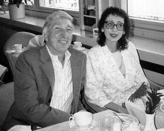 JCO and John Updike at the Swedish Book Fair, Gotenberg, Sweden, 1987. Photo by Raymond Smith.