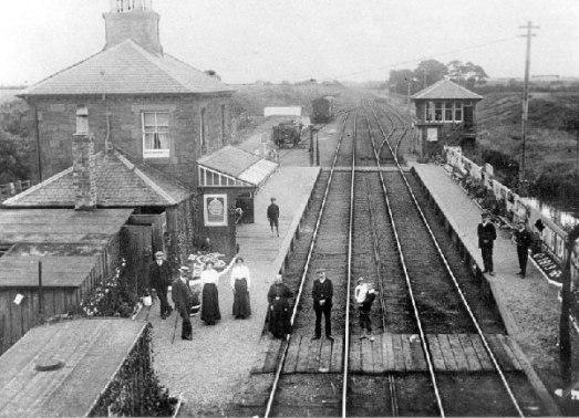 Bowness station looking towards the Moss