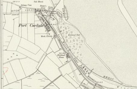 OS map showing canal & coaling wharf at port Carlisle