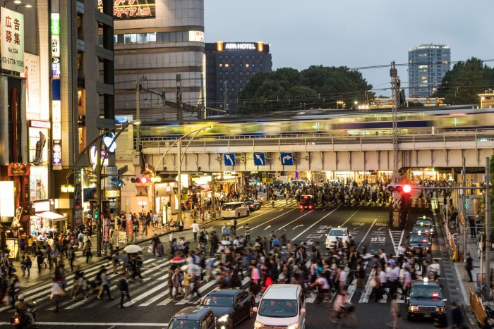 Busy Street, Ueno District, Japan